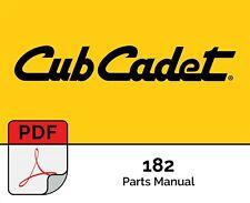Cub Cadet Tractors Parts Manual 82 Series - 182 Lawn Tractor