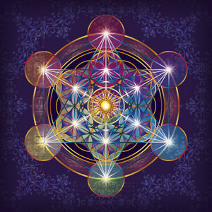 "3x Flower of Life sticker 4.13"" Metatron's Cube Mandala Sacred Geometry Hexagram"