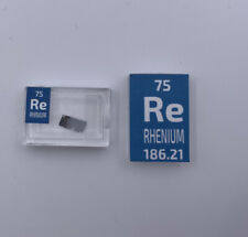 Rhenium Metal Foil 99.9% VERY RARE element sample 75 in Periodic Element Tile