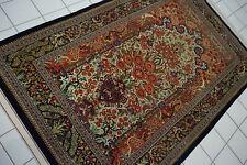 1508-Wunderschöner Original Persischer Ghom,215x137 cm²,Carpet,Teppich,Tapeto