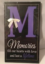 Memories Fill Our Hearts Wooden Plaque Wall Decor