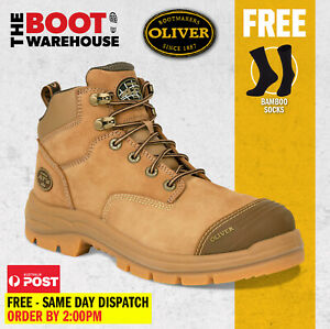 Oliver Stone 55350Z Safety 130mm Steel Toe Zip Work Boots 55-350z NEW COLOUR!