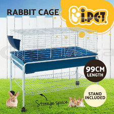 Bunny Rabbit Guinea Pig Hamster Small Pets Hutch Cage 100cm & Stand - NEW