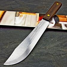 Ontario USA Old Hickory Hardwood Fixed Blade High Carbon Steel Butcher Knife