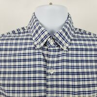 J Crew Oxford Slim Fit Mens Blue Check L/S Casual Button Shirt Sz Medium M