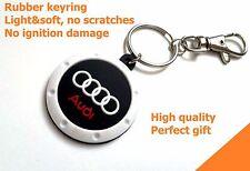 AUDI A4 TT Keychain Key ring R8 S4 A4 A6 A8 Q7 S6 RS soft light rubber emblem