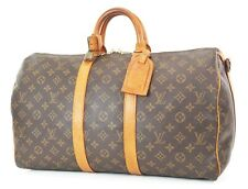 Authentic LOUIS VUITTON Keepall Bandouliere 45 Monogram Canvas Duffel Bag #37078
