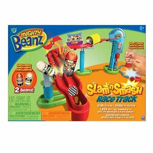 MIGHTY BEANZ SLAM 'N SMASH RACE TRACK EXCLUSIVE 2 BEANZ!