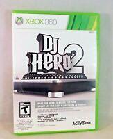 DJ Hero 2 Microsoft Xbox 360 2010 Complete with Manual