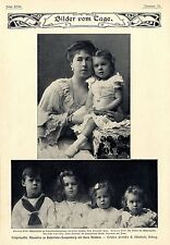 Erbprinzessin Alexandra zu Hohenlohe- Langenburg mit ih...Histor.Memorabile 1904