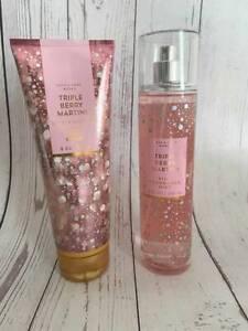 New Bath & Body Works TRIPLE BERRY MARTINI Shea Body Cream & Fine Fragrance Mist
