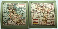 Antique Stamp Album Maps –1920s? – German States - Alsace etc– (6 x 6.8 cm ) (Se