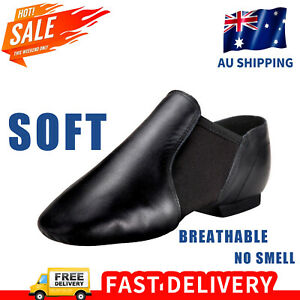 Jazz Shoe Slip On for Child and Adult,Split Sole,Black and Tan
