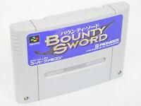 Super Famicom BOUNTY SWORD Nintendo Cartridge Only sfc