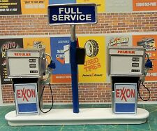 Exxon  Service Station Gas Pump Island(Ready to Display) 1:18-1:24 Scale NWB