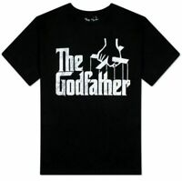Adult Mafia Movie The Godfather Puppeteer Strings Distressed Logo T-shirt Tee