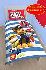 Paw Patrol Pawsome Réversible Ensemble couette Simple - 3229