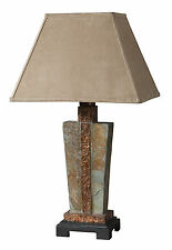 "Slate and Copper Indoor/Outdoor Accent Table Lamp 29""H by Uttermost 26322-1"