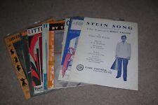 12 Vintage Sheet Music, Rudy Vallee, Maine Stein Song