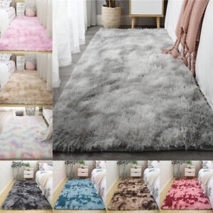 Soft Fluffy Area Rugs Shaggy Tie-Dye Throw Carpets Bedroom Rugs Indoor Home