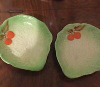 CARLTON WARE -pair lettuce leaf dishes TM