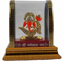 Om Ganesha Idol Elephant God Sculpture Car Dashboard Home Office Statue