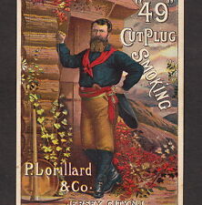 Gold Miner 49 Cut Plug Lorillard Tobacco 19th Century Advertising Trade Card