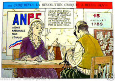 CARTE postale REVOLUTION ANPE Prudhomme POLE EMPLOI GAG