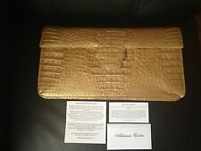 GENUINE Crocodile Skin Clutch by Adriana Castro in GORGEOUS GOLD!!!