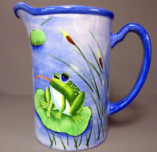 New Ceramic Collectible Frog Pitcher Frogs Water Jug