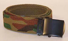 """Camo Belt - Woodland Reversible to OD Cotton - 54"""" Can Be Cut To Size"""
