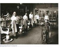 Vintage Barber Shop Old Time Barber Chairs Tonic Bottles Shoe Shine Barbers LOOK