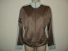 Juicy Couture Small Size S Track Jacket Light Brown w/ Blue Zip Front Polyester