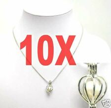 SALE Wholesale 10X Heart pendants natural white Pearl silver plated Necklaces