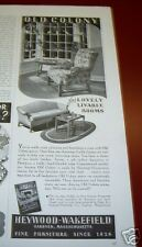 1938 Heywood Wakefield Old Colony Furniture Ad