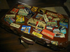 60 Repro Vintage Luggage Labels - Decoupage Decorate Old Suitcase Steamer Trunk
