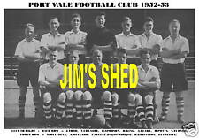 PORT VALE F.C.TEAM PRINT 1952-53 (SPROSON/MULLARD)