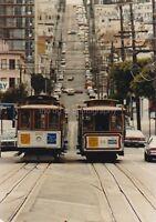 CABLE CARS San Francisco FOUND PHOTOGRAPH Color FREE SHIPPING Original 811 17 E