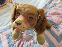 Vintage 1960's GUND STUFFED PLUSH REGAL BEAGLE DOG / blinking eyes