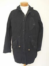 Rugby Ralph Lauren BLACK Cotton Coat Jacket SMALL NWT
