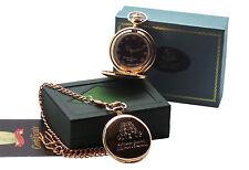 Reloj de bolsillo Winston Churchill firmado cotización de oro Rosa en Caja De Lujo Autografiada