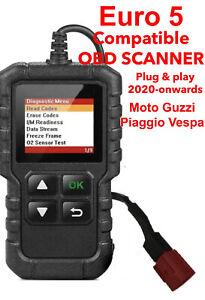 Euro5 OBD2 6 Pin Plug Compatible Motorcycle Scanner Moto Guzzi, Piaggio Vespa