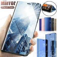For Samsung Galaxy S20 S10 S9 S8 Plus Smart View Mirror Cover Leather Flip Case