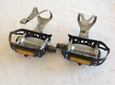 TOECLIP PEDALS CHRISTOPHE  CLIPS VINTAGE - 9/16 - USED CONDITION