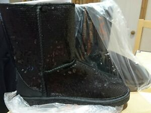Ugg Boots Ladies Black Sequin Size 6.5