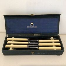 Vintage. Firth's Stainless Steel Set of 6 Knives in Presentation Box.  #710