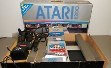 VTG ATARI 5200 VIDEO GAME SYSTEM W CONTROLLERS & 3 GAMES IN ORIGINAL BOX