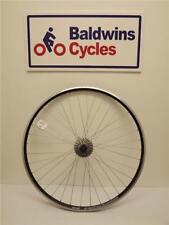 700c REAR Road Bike Wheel Q/R Hub BLACK Weinman Rim + 8 Speed Cassette