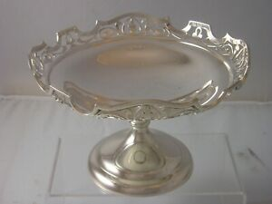 1908 Edwardian Silver NOUVEAU Heavy Gauge Comport Tazza 378 grams Martin Hall