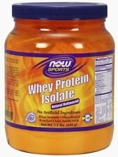 NOW Foods Whey Protein Isolate, Natural Unflavored, 1.2 Pound